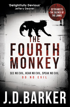 The Fourth Monkey Cover - UK Edition JD Barker