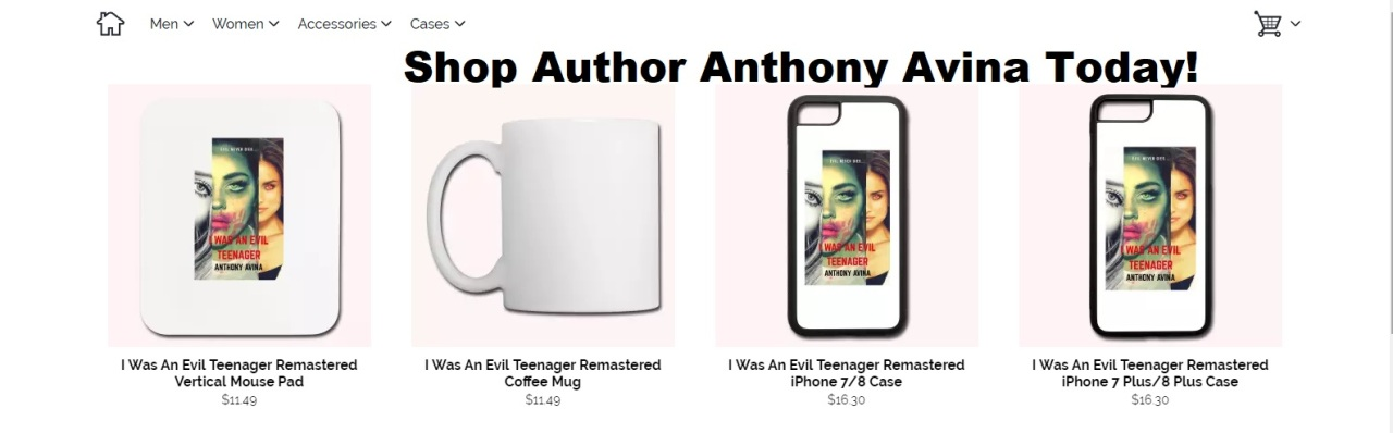 Author Anthony Avina Spreadshirt Store 01